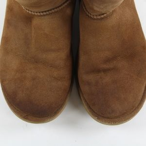 UGG Shoes - UGG Classic Tall 5815 Chestnut Suede Roll Boots